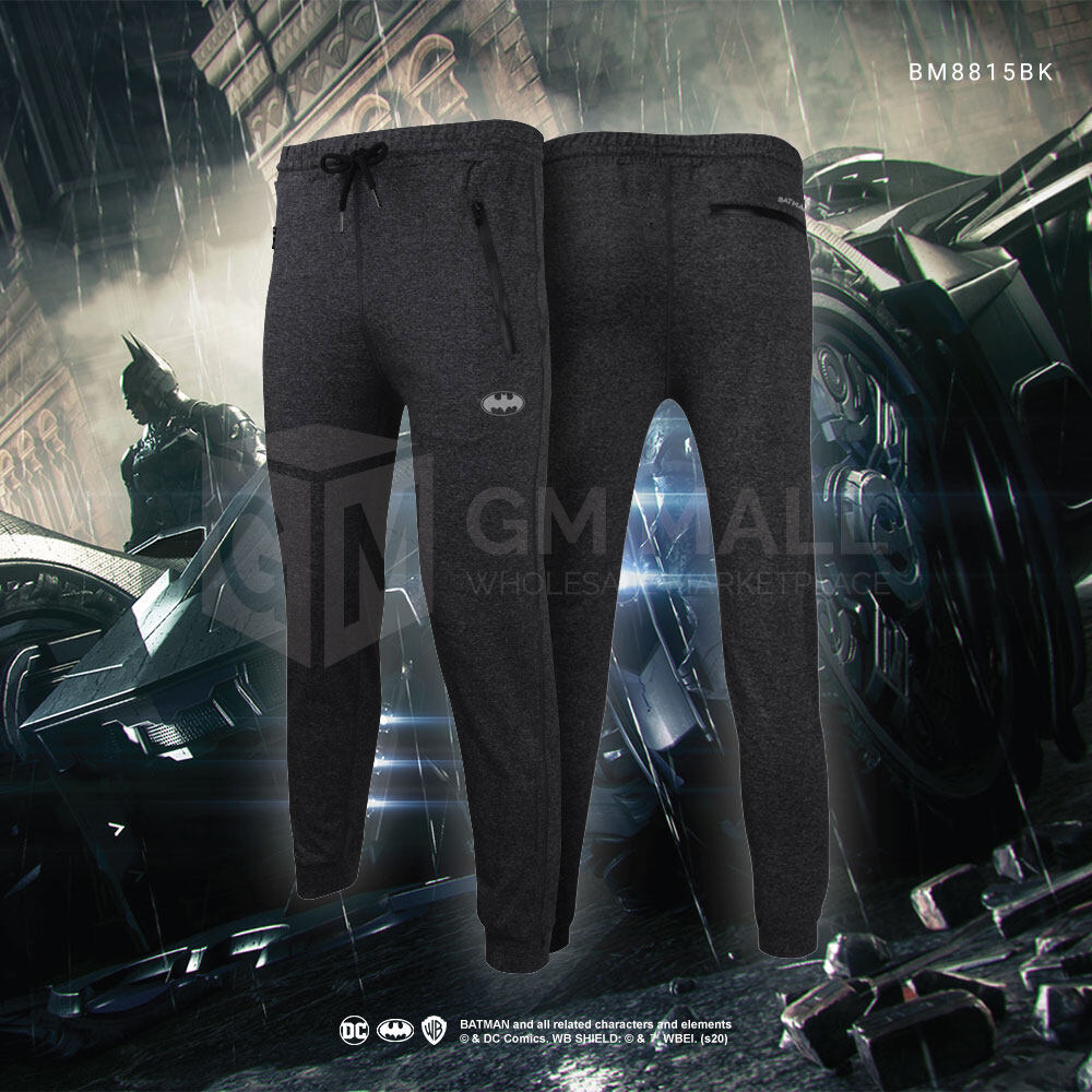 BATMAN DC Exclusive Black Jogger Men Sport Gym Jogging Training Pants – Casual Sport Running Pants [BM8815BK]