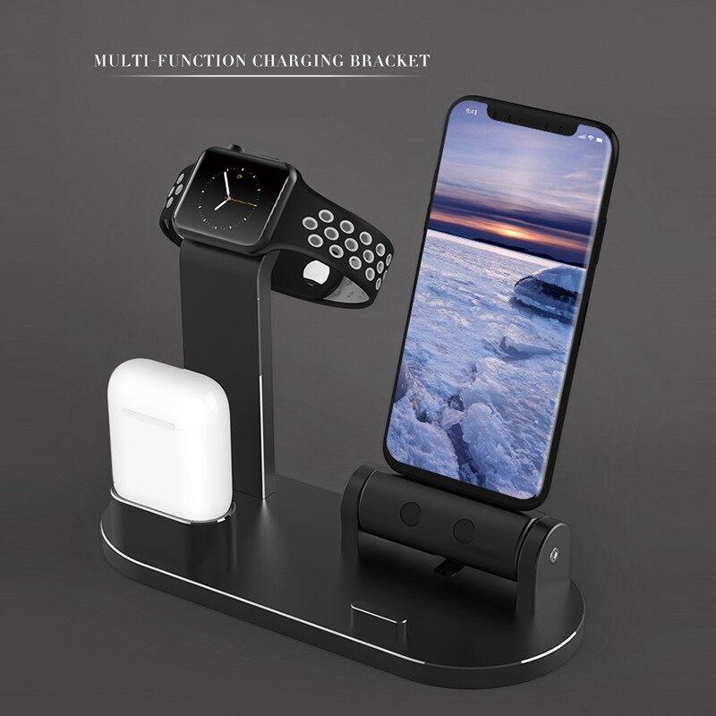 Phone Holder & Stand - Charging Dock Station Phone Holder Desktop Bracket Cradle Alloy desk stand - BLACK