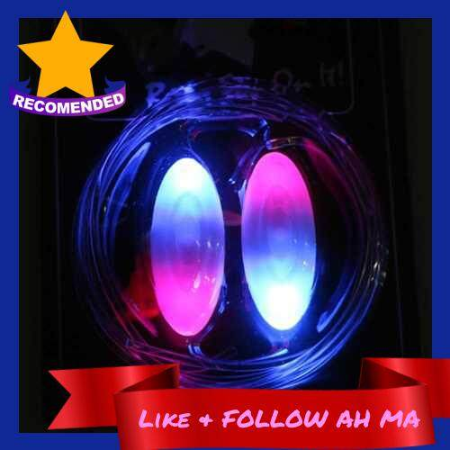 Best Selling LED Battery Powered Operated Light Shoelace (Blue & Pink)