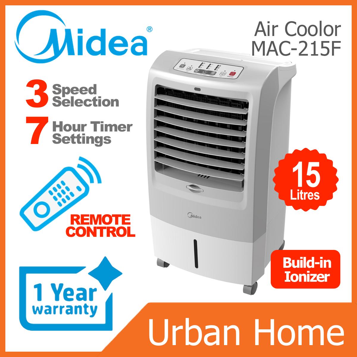 MIDEA 15L Remote Control Ionizer Air Cooler (MAC-215F/MAC215F)
