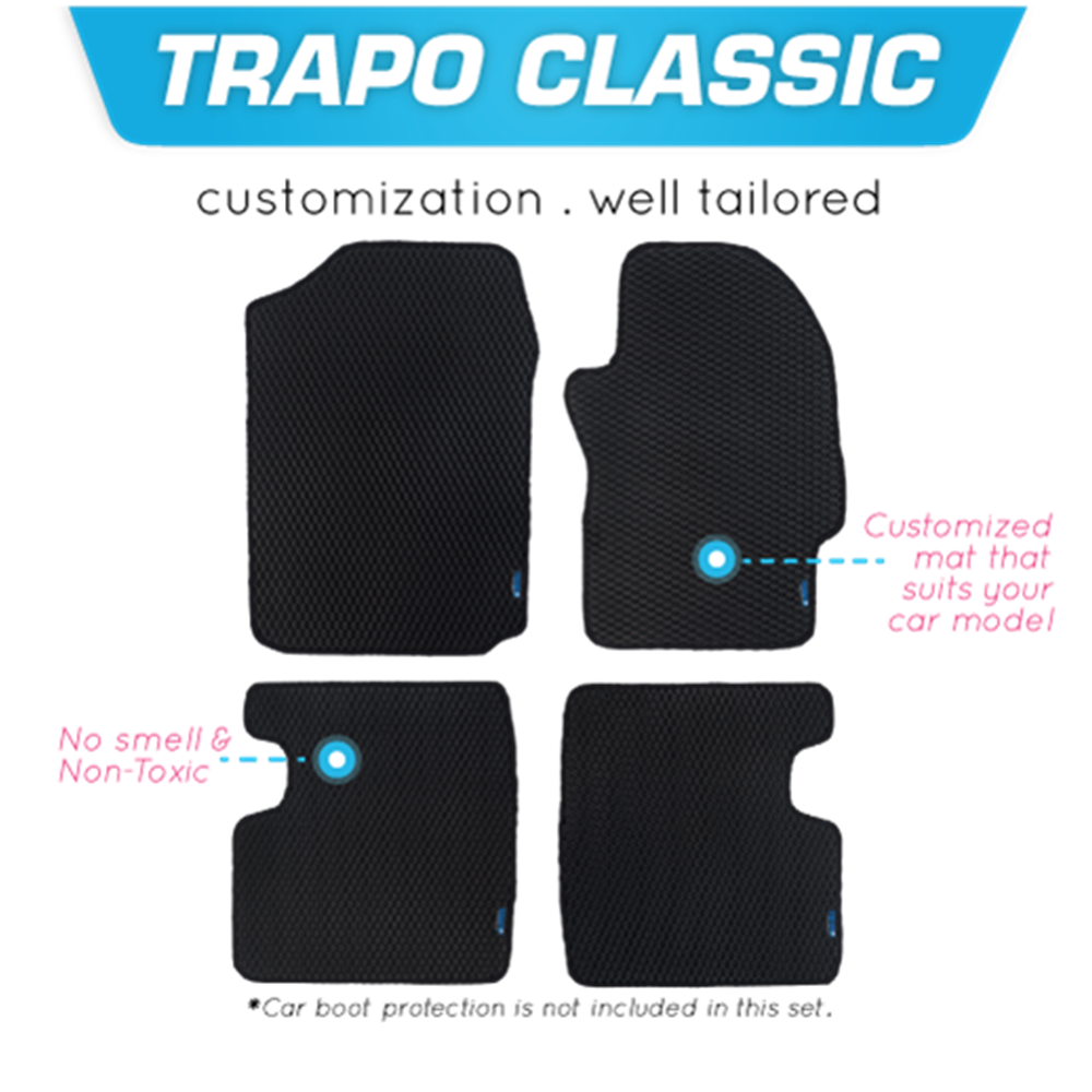 TRAPO Customize Car Floor Mat for Mazda 3 2019-Present Black Base with Red Lining,Grey Lining,Blue Lining,Black Lining) Choose The Colour In Colour Family