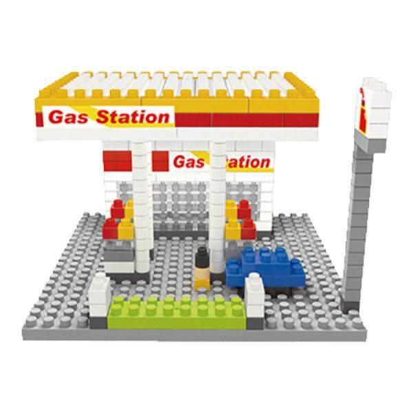 City Builder SHELL GAS STATION Mini Building Blocks