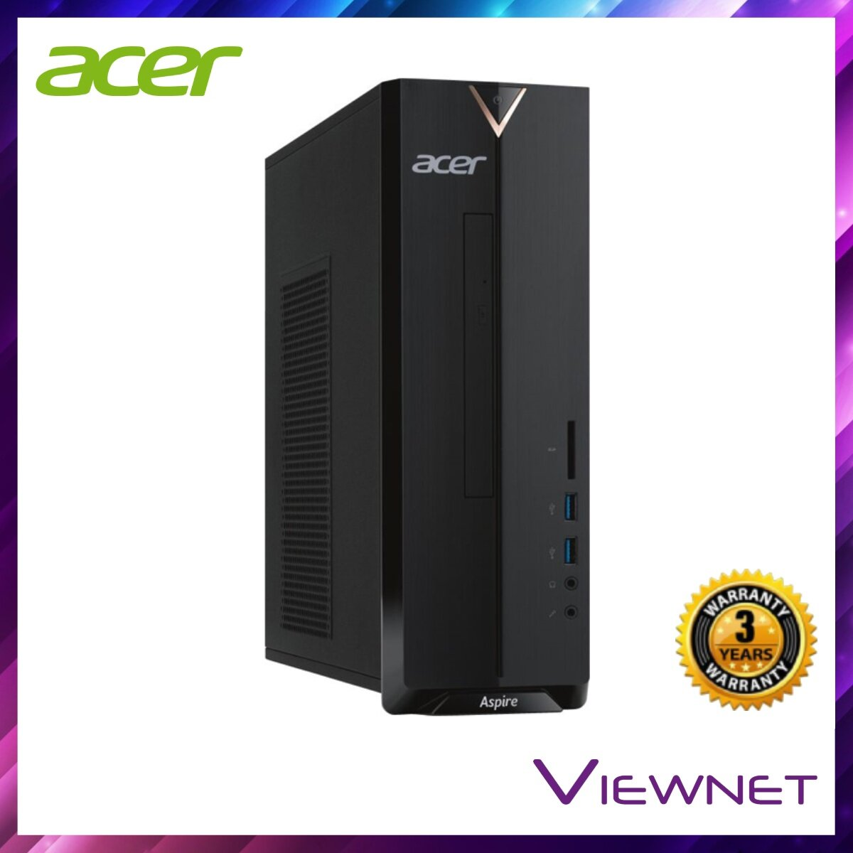 Acer Aspire XC830-5005W10 Desktop PC (DT.B9VSM.001), Intel Pentum QC J5005, 4GB DDR4, 1TB, DVDRW, Intel HD, Windows 10