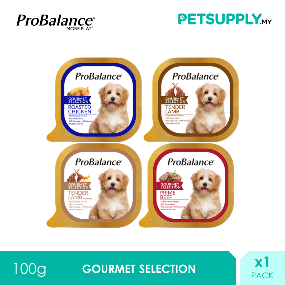 ProBalance 100G Gourmet Selection Wet Dog Food x 1 Pack [PETSUPPLY.MY]
