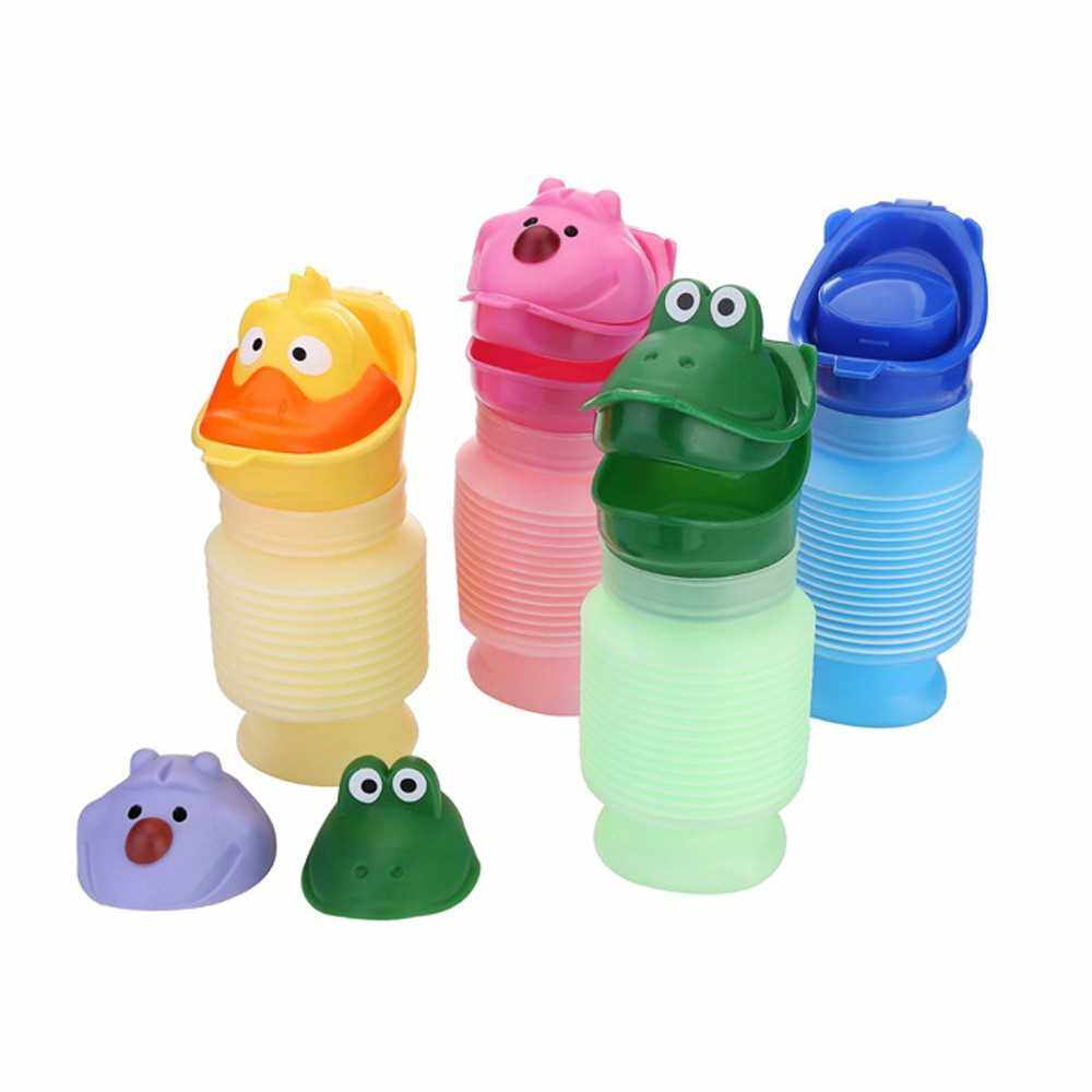 Portable Kids Urinal Travel Outdoor Camping Use Car Potty Bottle Mini Size Compact Cute Toilet (Green)