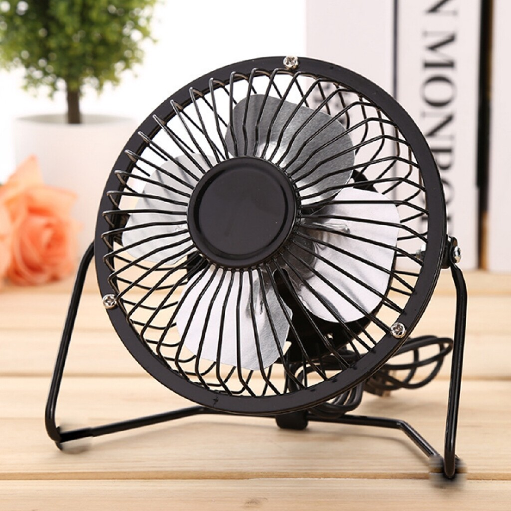 USB Fan - 4'' PORTABLE MINI USB Fan Rechargeable Desk Cooler Office Home Silent Cooling - Cool Gadgets