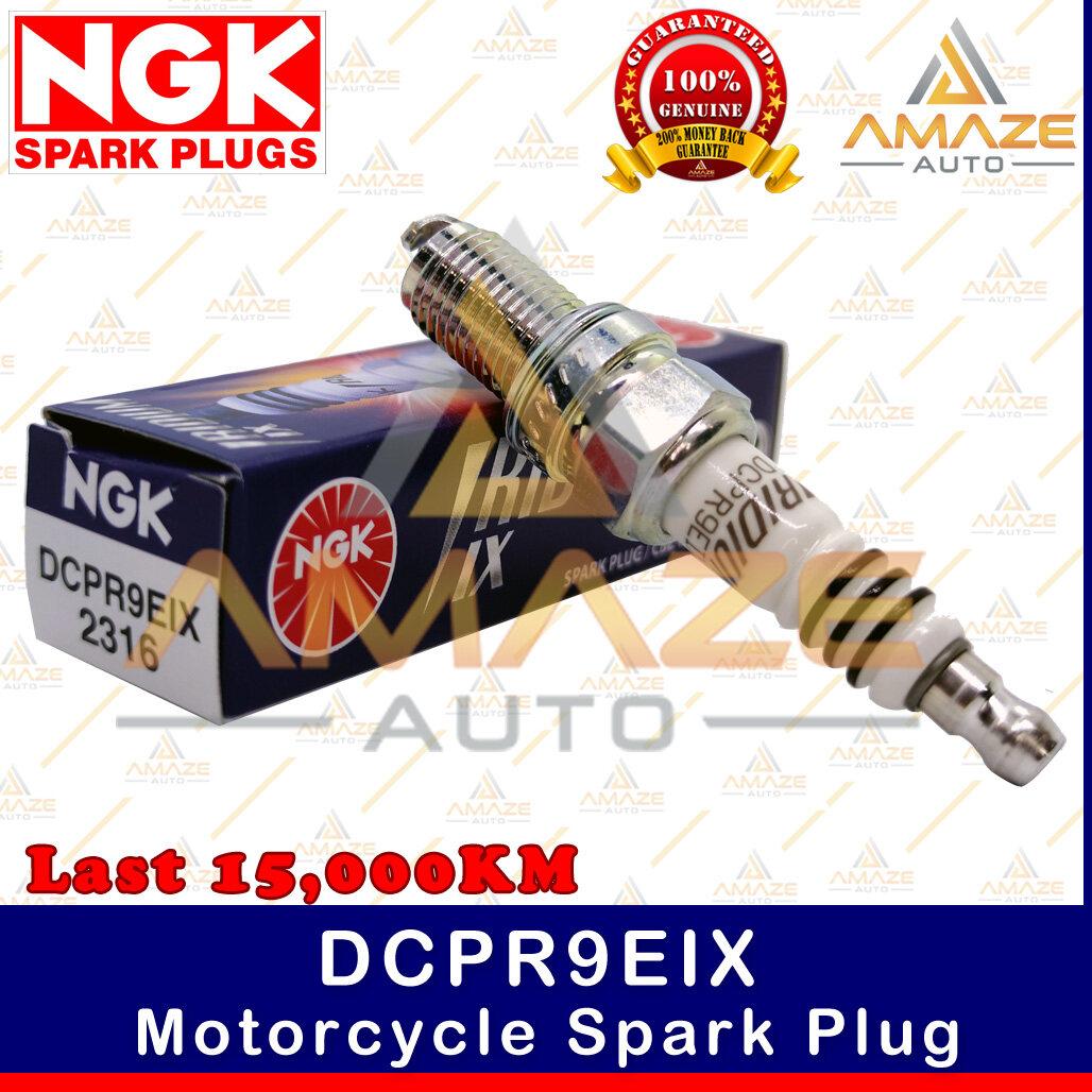 NGK Iridium IX Spark Plug DCPR9EIX - Last 15,000KM (Aprilia ETV Capo Nord, RST Futura, RSV1000R, Touno 1000R, Ducati Hypermotard, Hypermotard 796, Monster, Scrambler) - Amaze Autoparts