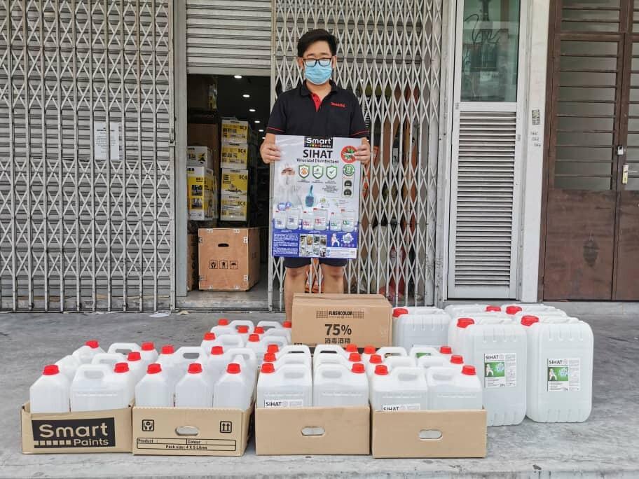 Disinfectant Aerosol Spray 450ml Flashcolor (Isopropyl Alcohol (IPA) 75%) READY STOCK