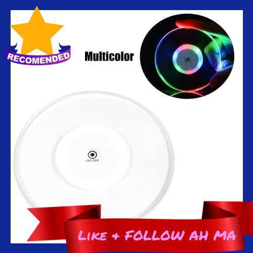 Best Selling Acrylic Ultra-thin Led Coaster Round Shape Luminous Coaster Cup Mat Cocktail Beverage Coasters Home Party Club Bar Supply (Multicolor)