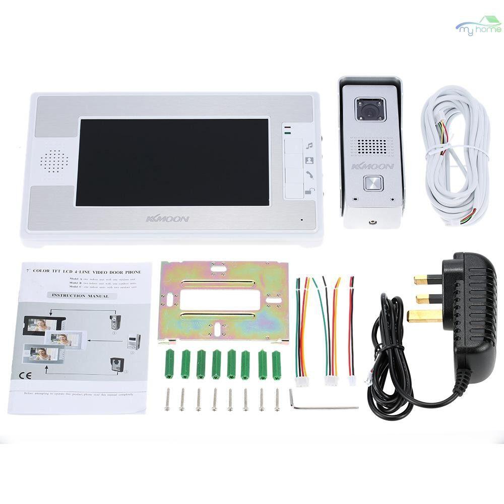 DIY Tools - 7 Color TFT LCD Video Door Phone Intercom Doorbell Unlock Monitor Rainproof Night Vision - #