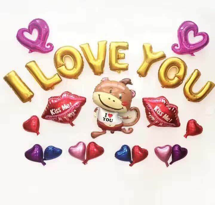 I Love You Words Party Balloon Party Celebration Propose Girl Friend Wedding Proposal toys for girls