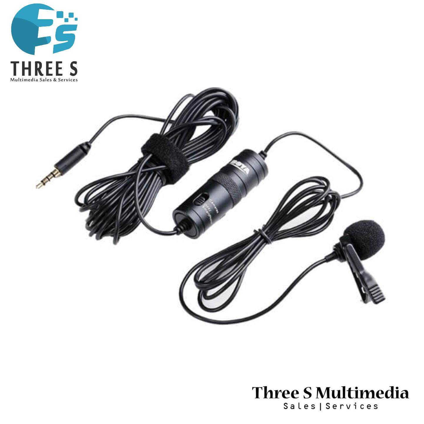Mini Lapel Lavalier Clip-on Microphone Wired Condenser Mic
