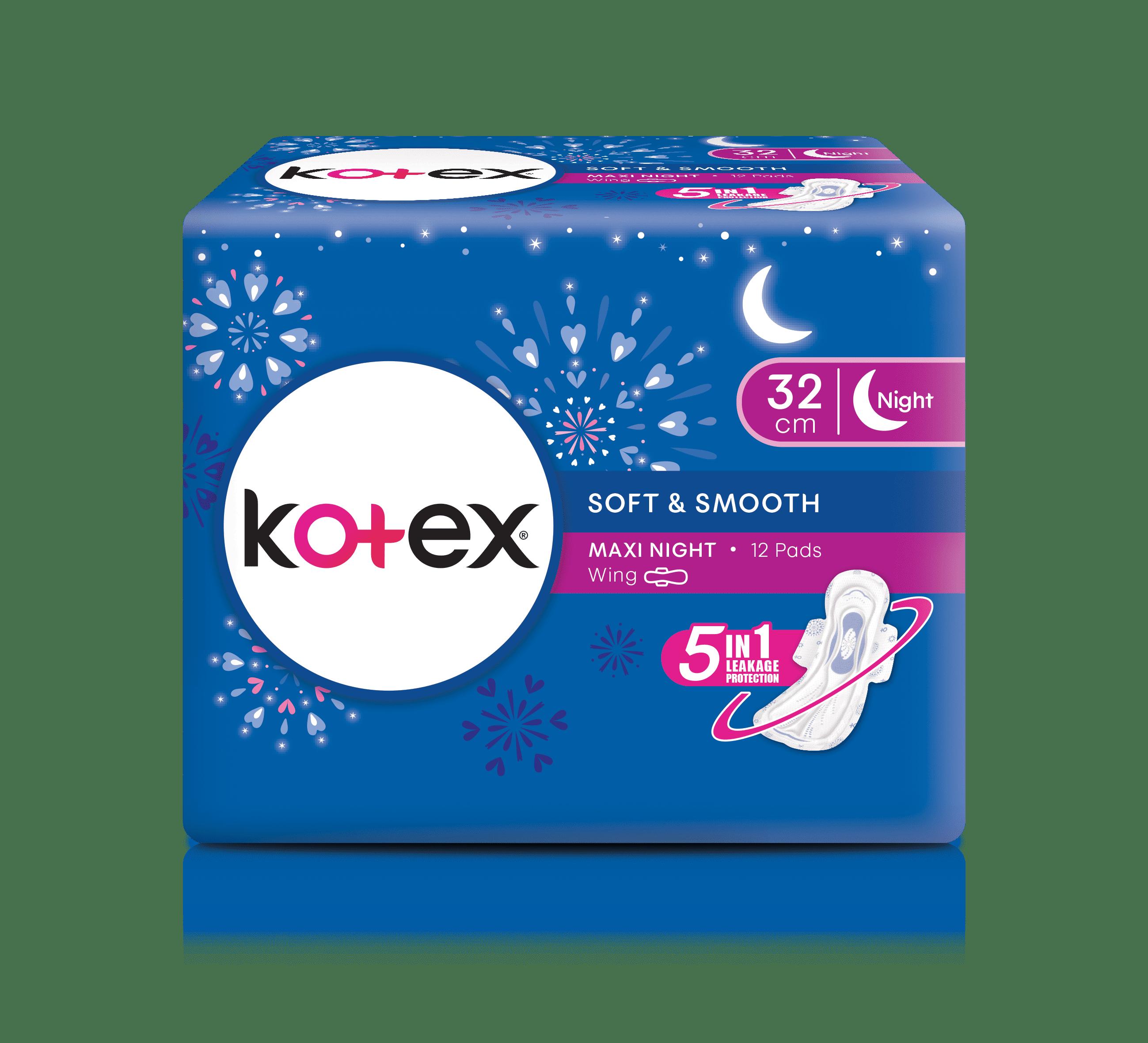 KOTEX MAXI NIGHT 32CM 12'S