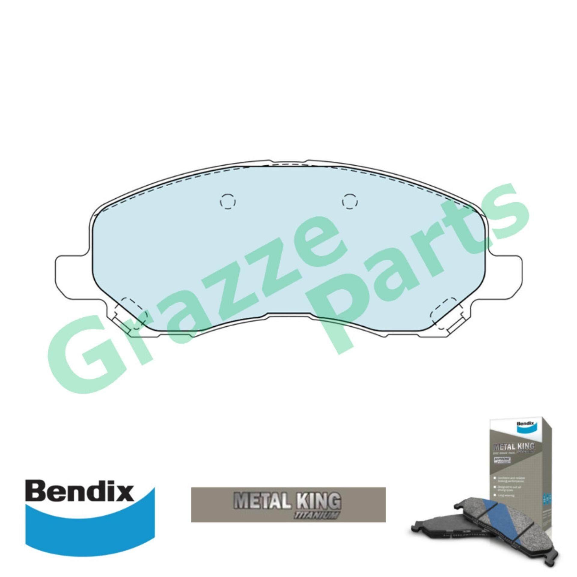 Bendix Metal King Titanium Disc Brake Pad Front for DB1441 - Proton Inspira Mitsubishi Lancer ASX Airtrek ZE ZF Grandis