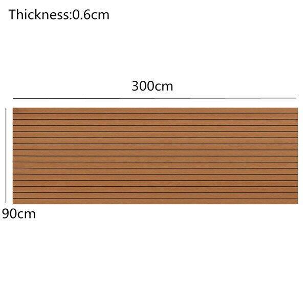 Rugs & Carpets - EVA Boat Flooring Faux Imitation Teak Decking Sheet Pad_3C - BROWN / GREY