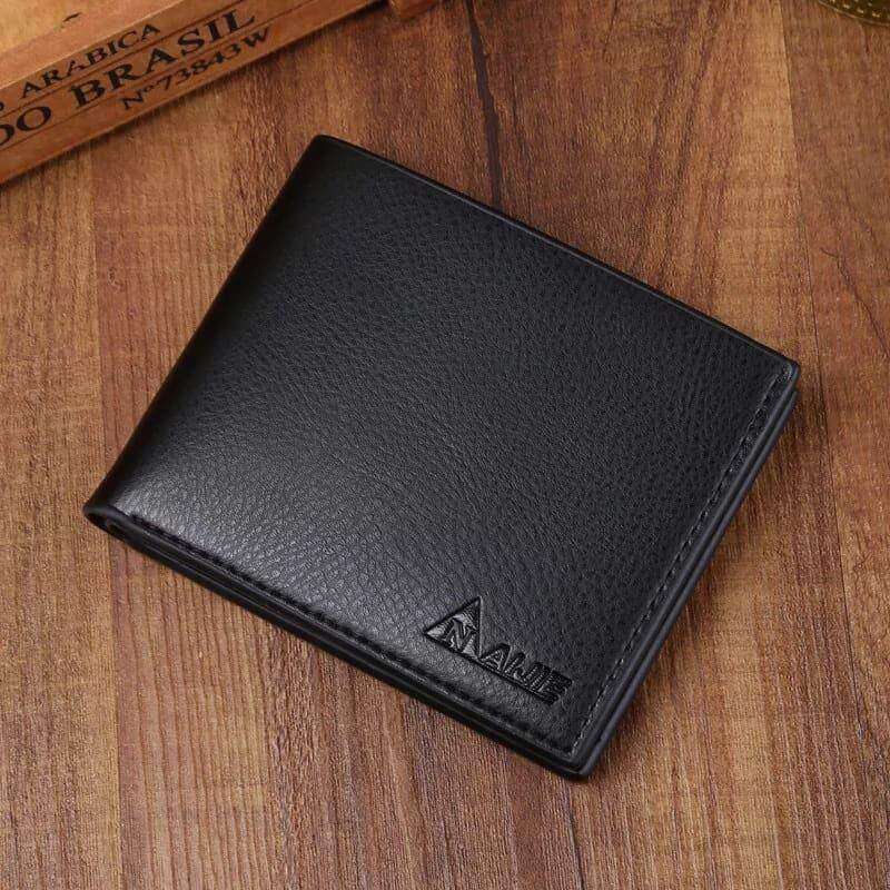 [M'sia Warehouse Direct] 2020 Korean Series Men's Leather Fashion Wallet Bi-Fold Fengshui Wallet Vertical/Horizontal Perfect Gift (Can request Box) Clutch Card Coins Cash Slot With Zip Portable Hand Carry Bag Top Material Genuine Dompet Lelaki Kulit Halal