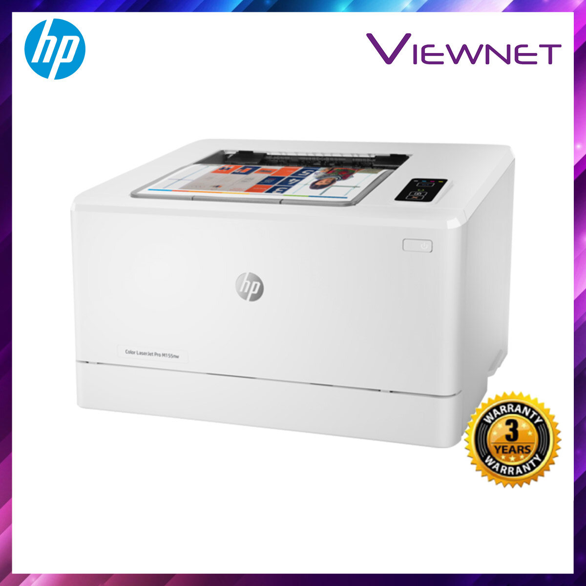 HP Color LaserJet Pro M155nw 3 Years Onsite Warranty with 1-to-1 Unit exchange **NEED TO ONLINE REGISTER**