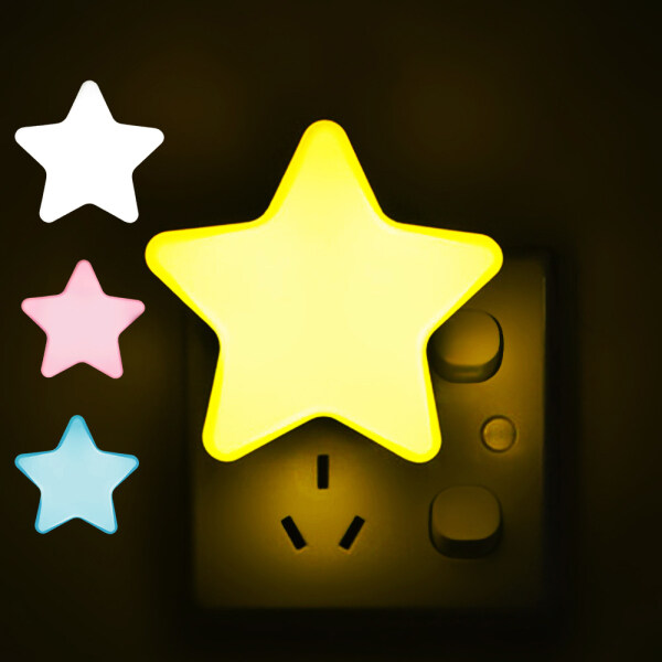 1 Chiếc Đèn Ngủ LED Hình Sao Mặt Trăng Mini Điều Khiển Bằng Cảm Biến, Đèn Đám Mây Đầu Giường Phòng Ngủ Trẻ Em Tối Màu Đèn Ngủ Cho Bé EU/US Đèn Led Ban Đêm Cho Đèn Trang Trí Phòng
