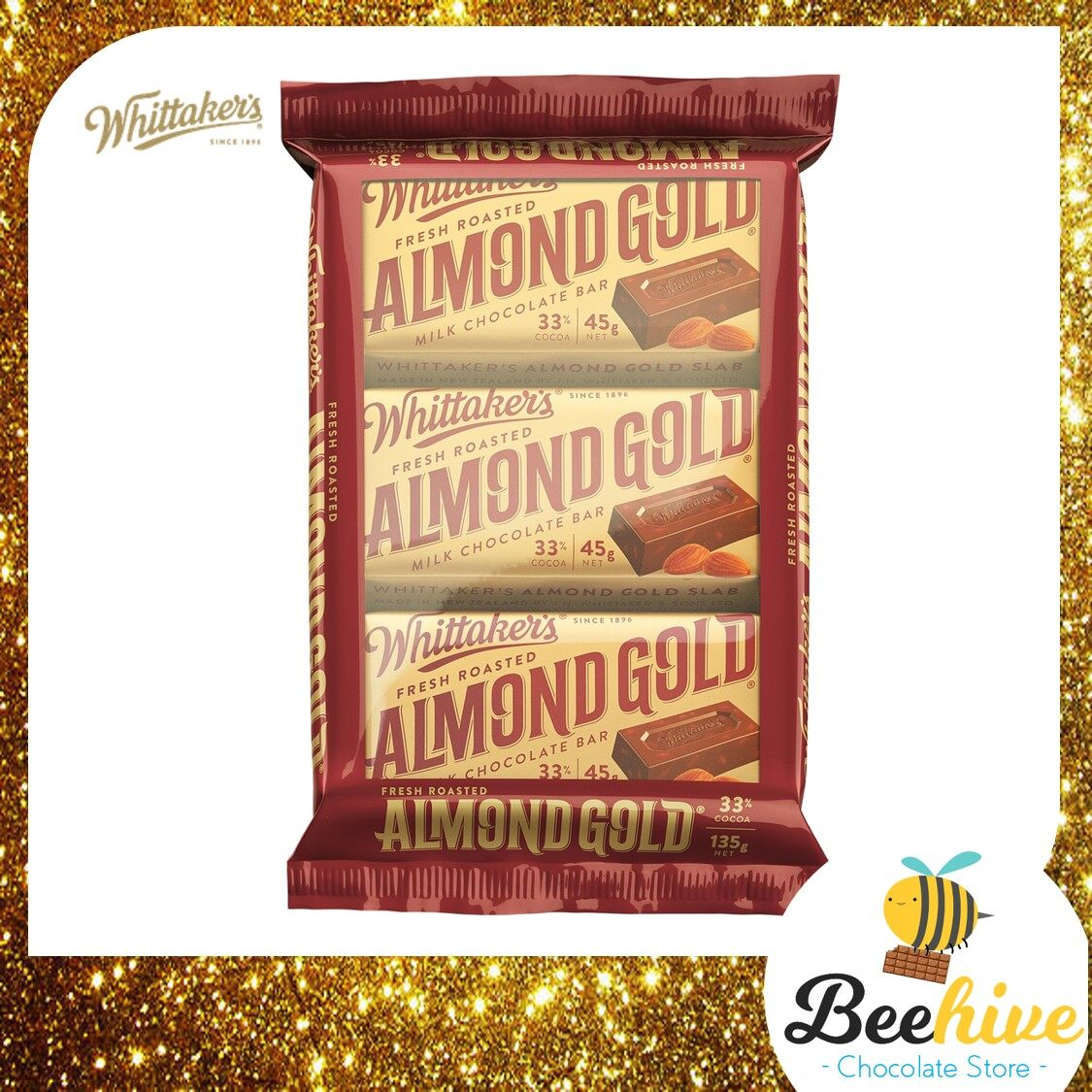 Whittakers Almond Gold Chocolate 135g [With Cold Packs]