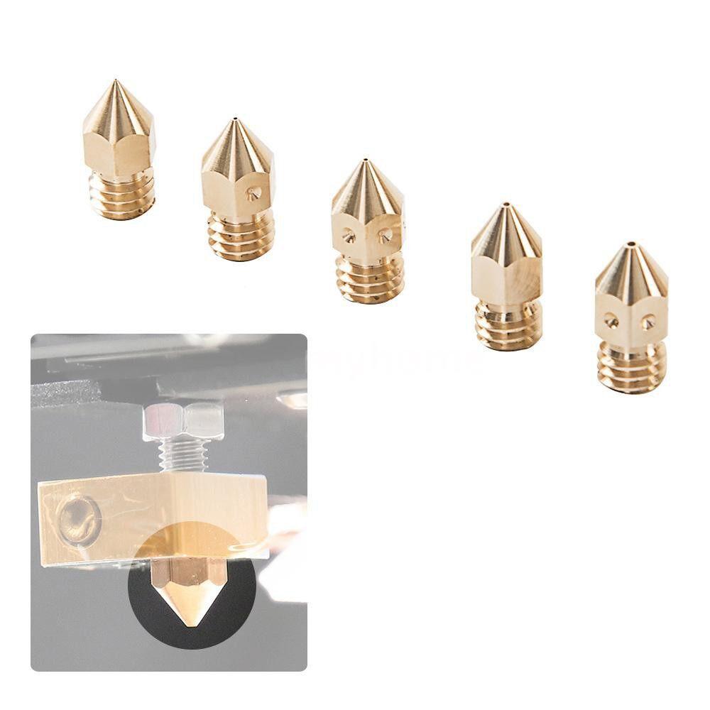 Printers & Projectors - Creality 3D Printer Universal Nozzles Kit Brass Extruder Print Head Size - GOLD