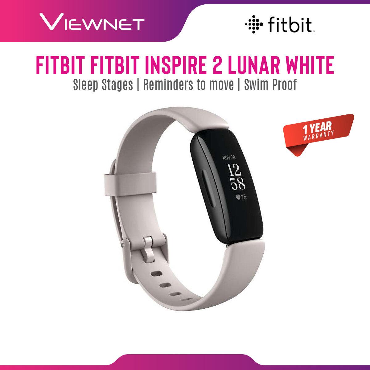 (NEW 2020) Fitbit Inspire 2 / Fitbit Inspire HR Smart Fitness Smartwatch (Fitbit Inspire HR Black/White Black/Lilac)  (Fitbit Inspire 2 Black/Desert Rose/Lunar White)