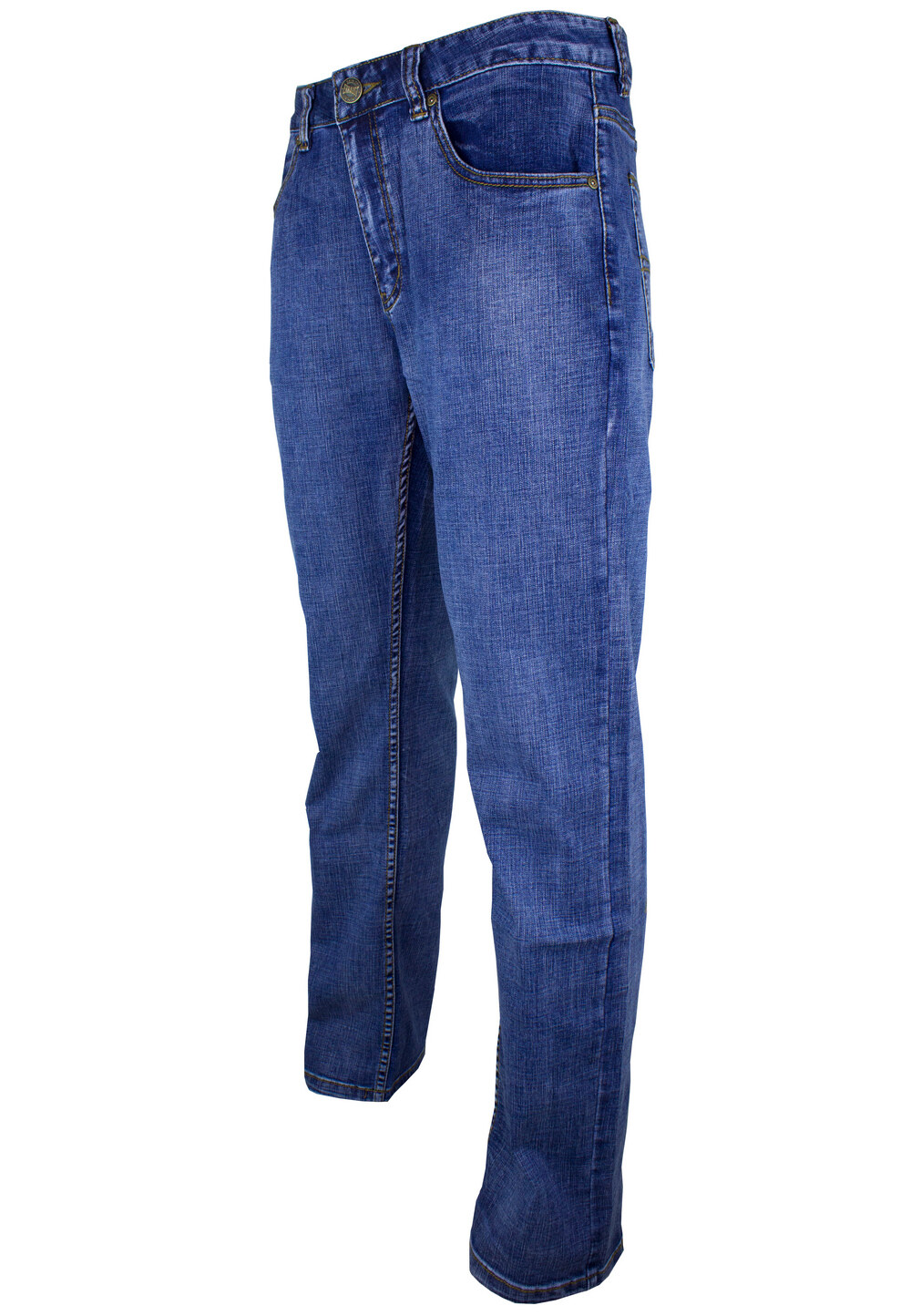 Exhaust Stretch Straight Cut Denim Long Pant 909