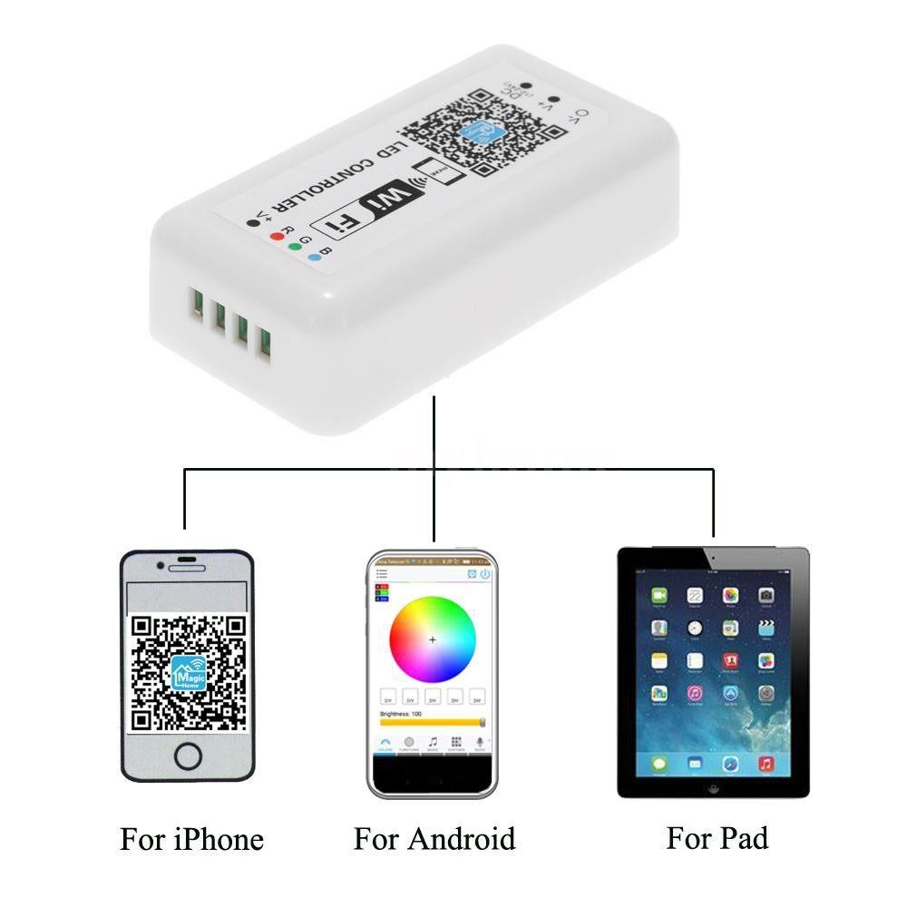 Lighting - 12V-24V LED RGB WiFi Controller for Strip Light 5050/3538 RGB LED Light / Bulb 3 Channels - #