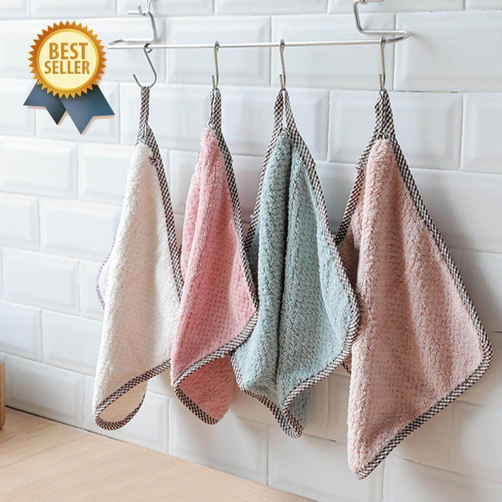 Microfiber Hangable kitchen towel set (4pcs)