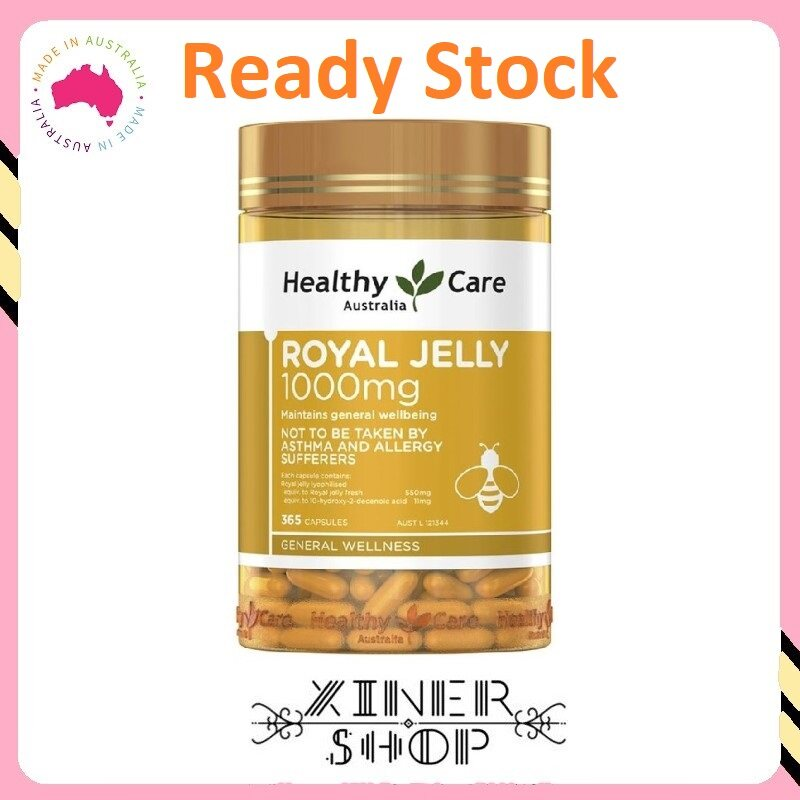[Ready Stock EXP Date: 05/2023] Healthy Care Royal Jelly 1000mg ( 365 Capsules ) ( Made In Australia )