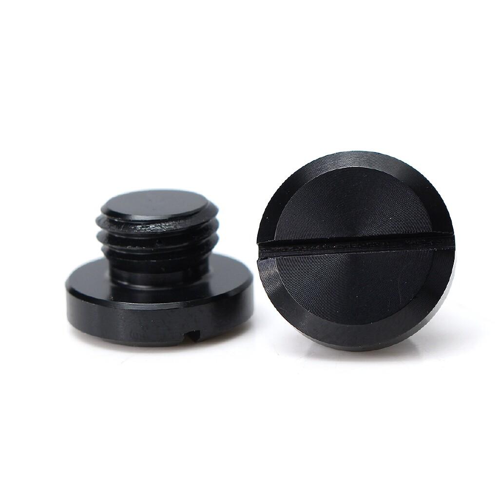 Moto Accessories - 2 PIECE(s) M10X1.25 CNC Mirror Hole Plug Aluminum For Honda Yamaha Suzuki Kawasaki - BLACK / BLUE / RED