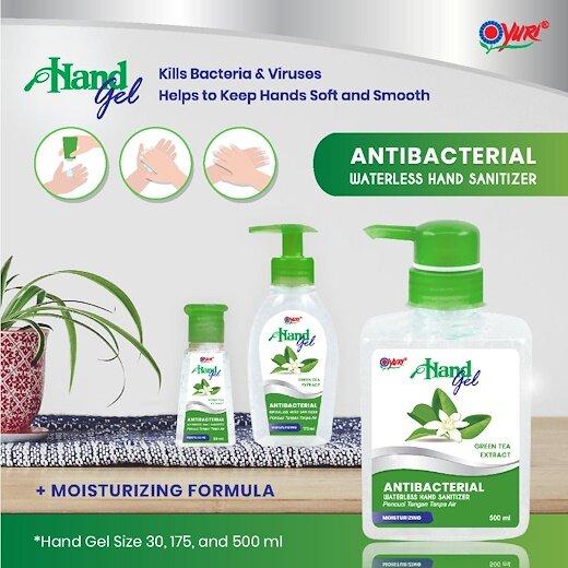 YURI Hand Gel Green Tea Sanitizer 30ml / 175ml