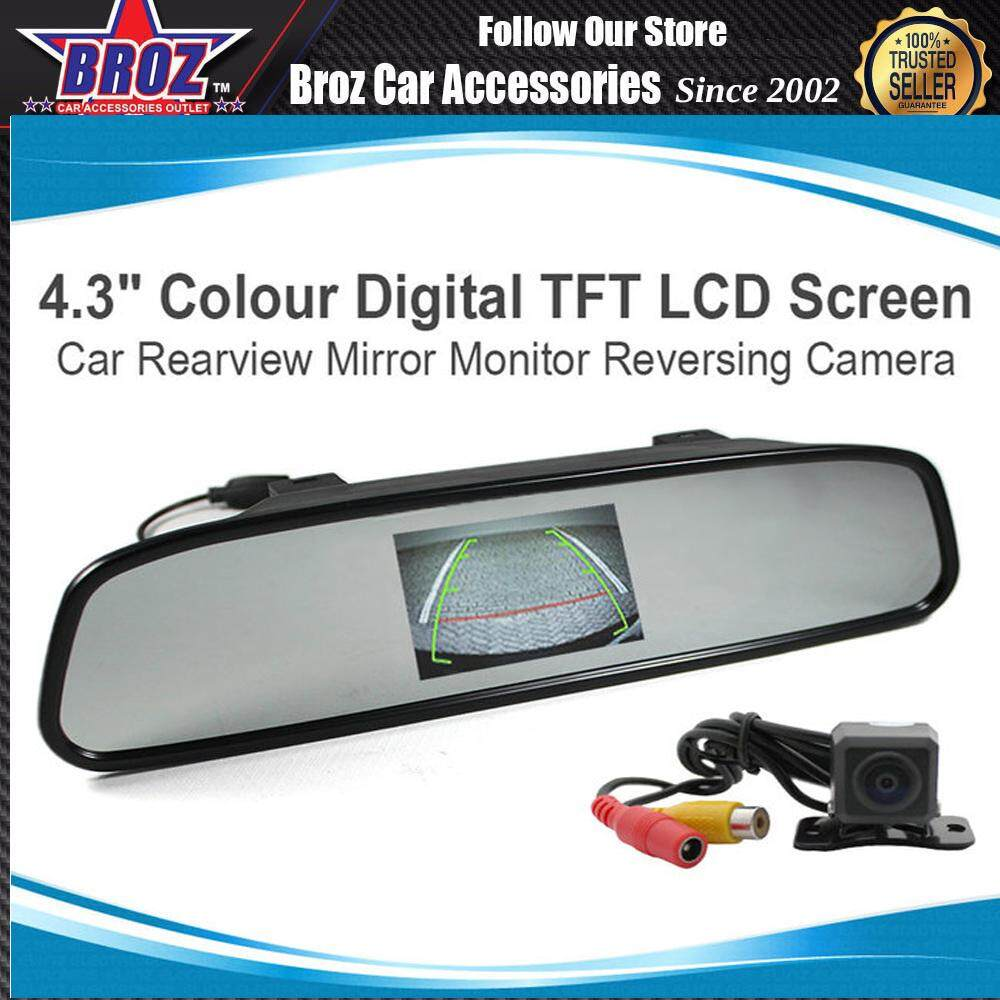 4.3  TFT LCD Color Monitor Car Reverse Rear View Mirror for Backup Camera Monitor Auto Switch When Reversing