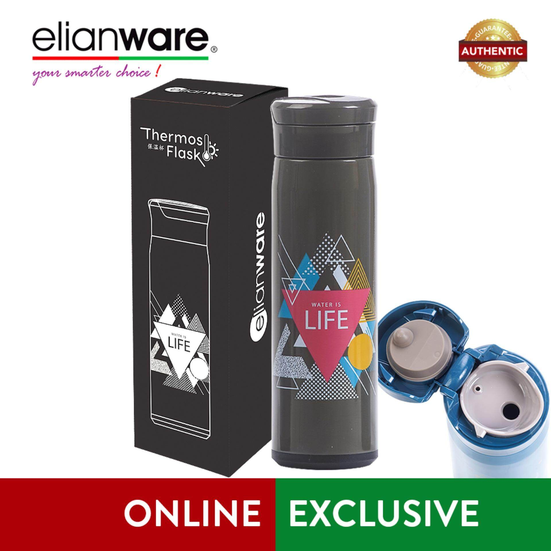 """Elianware 470ml Stainless Steel """"Water is Life"""" High Insulation Thermos Vacuum Flask"""