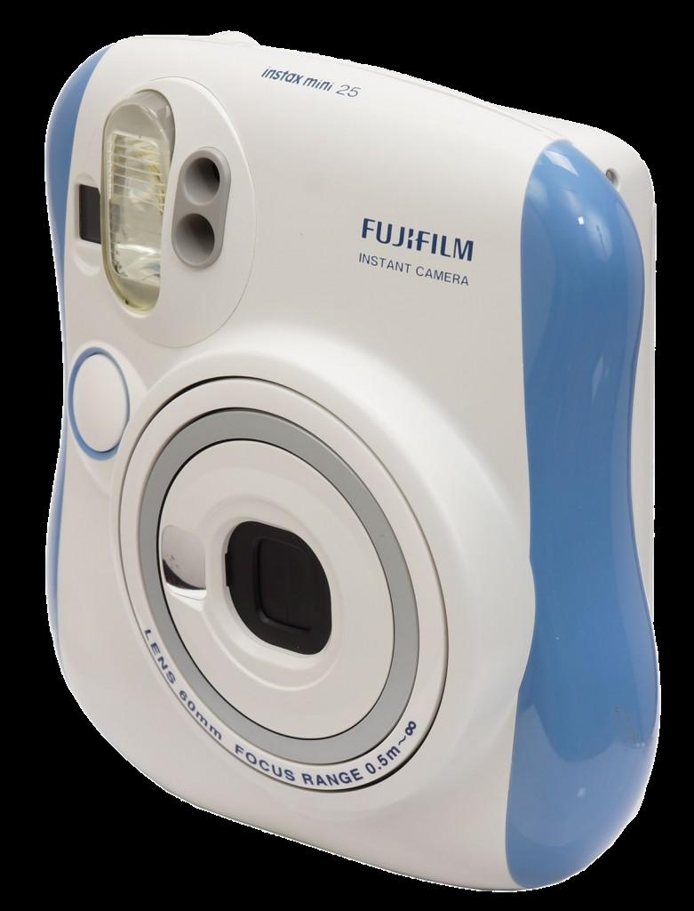 FUJIFILM INSTAX Mini 25 Instant Film Camera (Blue) Clear Stock