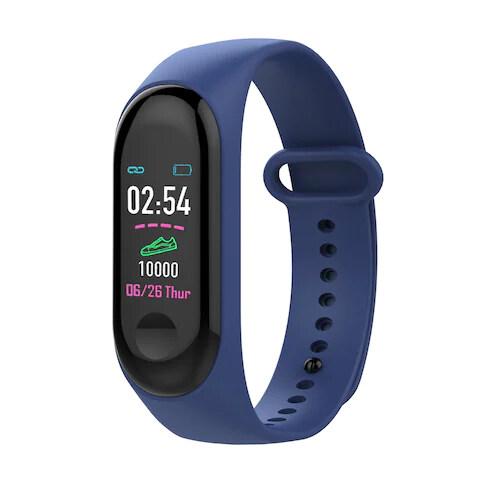 FDY M3 Stepping Heart Rate Blood Pressure Sleep Monitoring Bluetooth Smart Watch Jam Tangan Lelaki Wanita