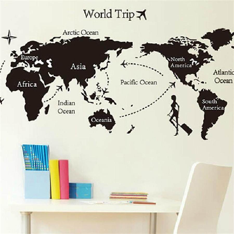 (MALAYSIAN SELLER) WJS Motivation Wall Sticker Motivational Poster Style Wall Art Sticker Removable Home Decor Decal Family Rules