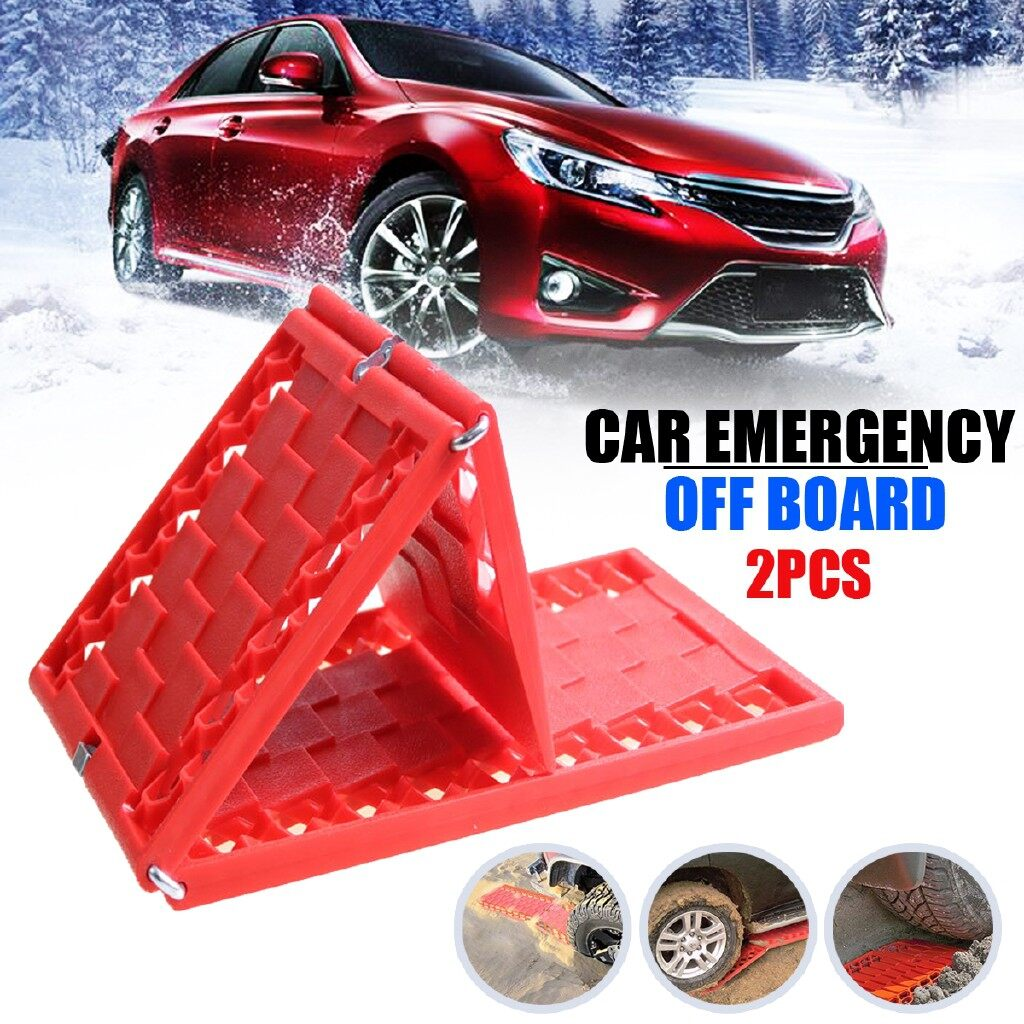 Automotive Tools & Equipment - Pair Foldable Tyre Grip Tracks Car Security Snow Sand Rescue Escaper Traction - Car Replacement Parts