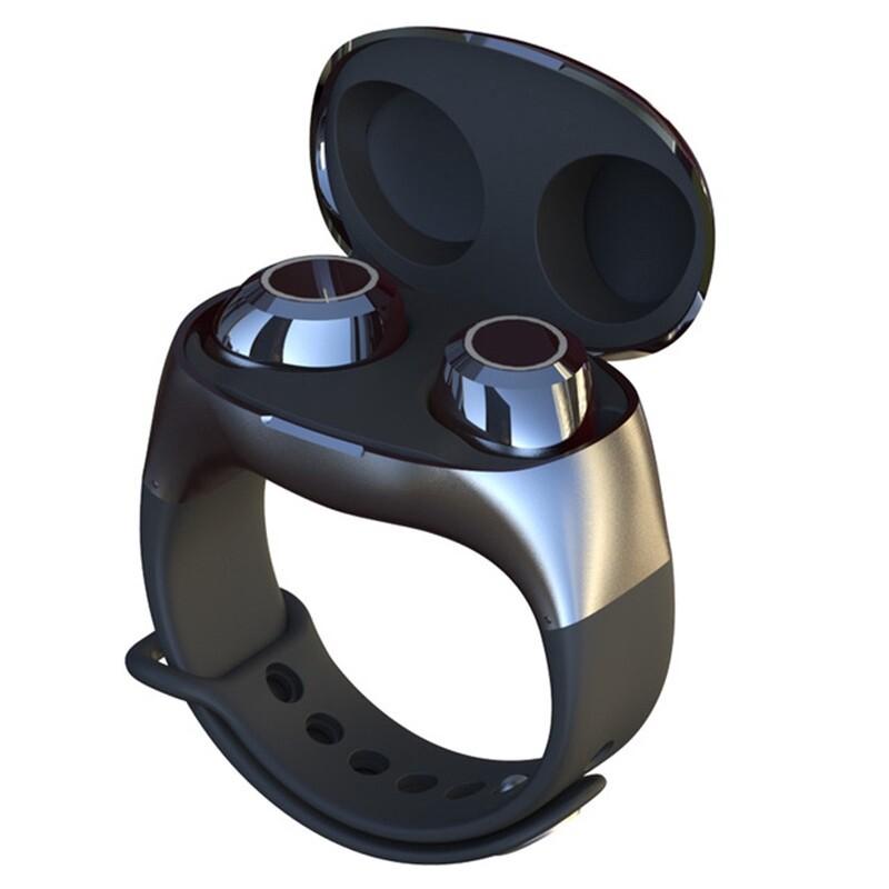 On-Ear Headphones - HM50 Wrist Graphene Earphone BLUETOOTH 5.0 WIRELESS Stereo Head SET PORTABLE Binaural Headphones - WHITE / BLACK