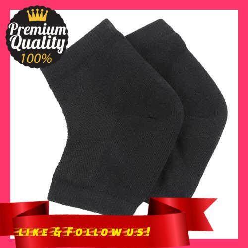 People\'s Choice 1 Pair Moisturizing Gel Heel Socks Open Toe Socks for Dry Hard Cracked Heels Foot Skin Care Protectors Pedicure Socks (Black)