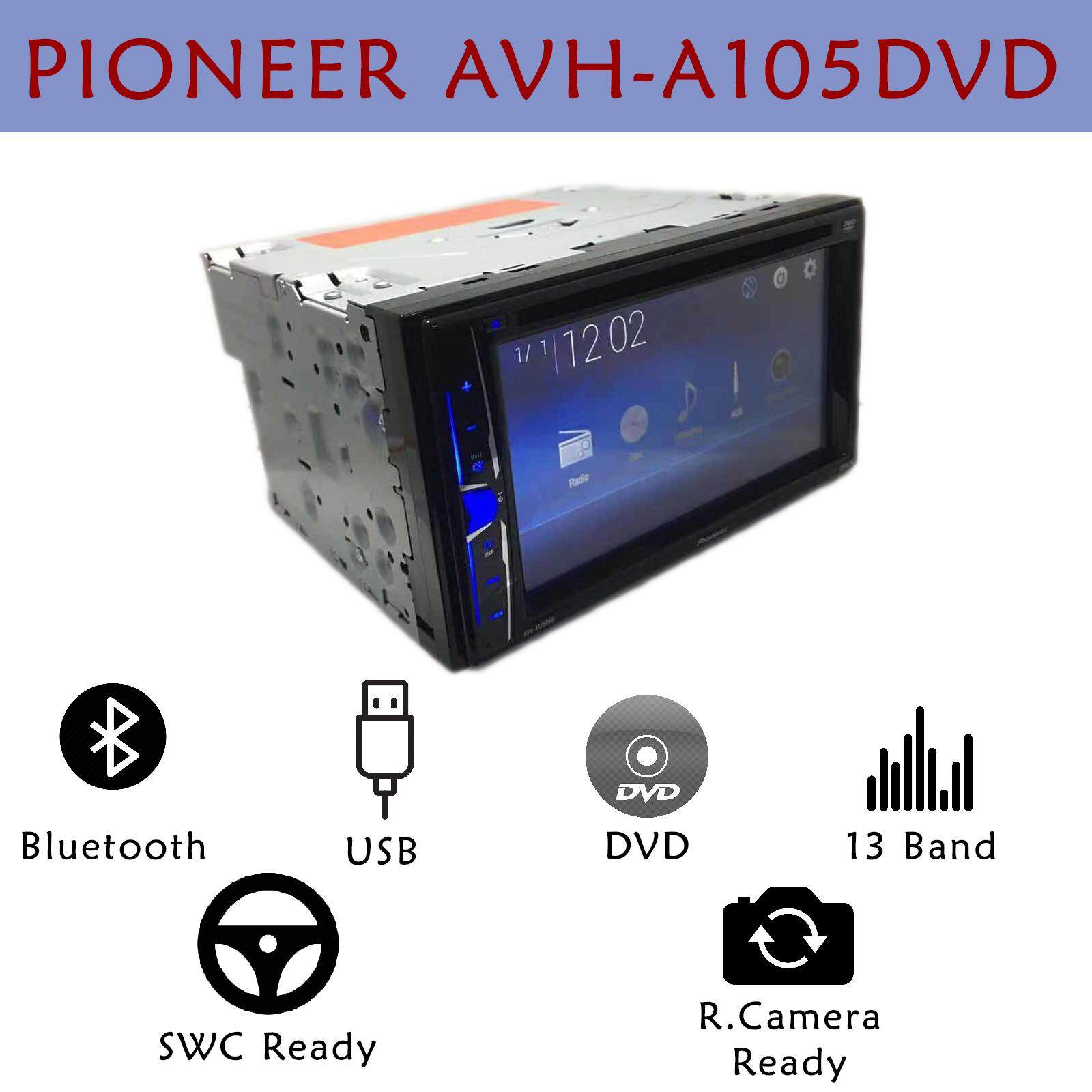 Pioneer AVH A105DVD Car Stereo Player Double Din USB Bluetooth