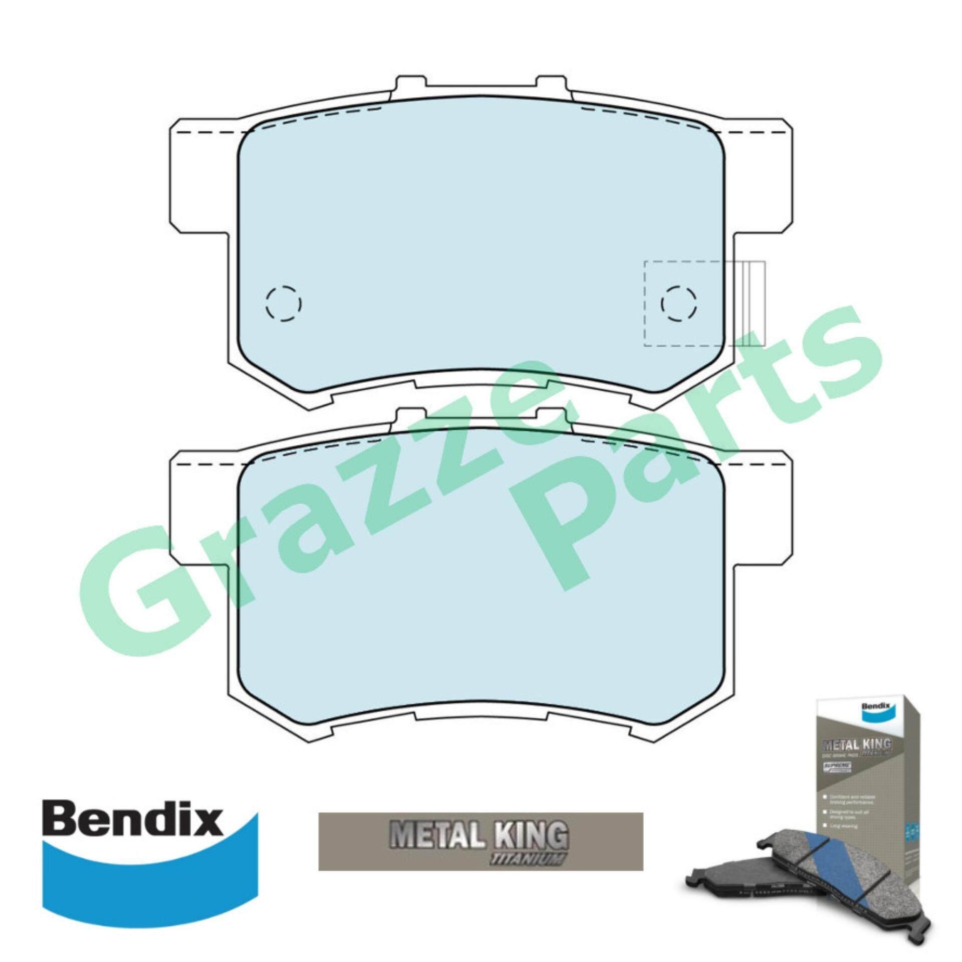 Bendix Metal King Titanium Disc Brake Pad Rear for DB1230 - Honda Accord SDA CRV S9A Stream Odyssey Legend