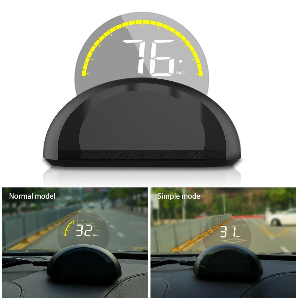 C700 HUD Head Up Display Car Front Window Speed RPM Water Temperature Voltage LED Display