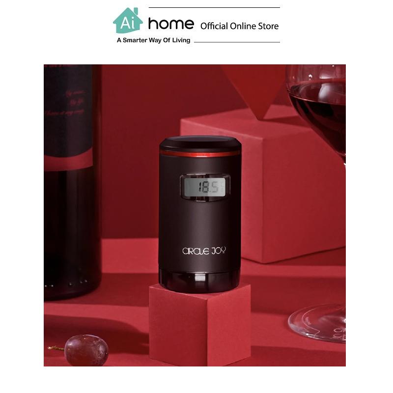 CIRCLE JOY Electric Wine Vacuum Sealer (Black) with 1 Year Malaysia Warranty [ Ai Home ]
