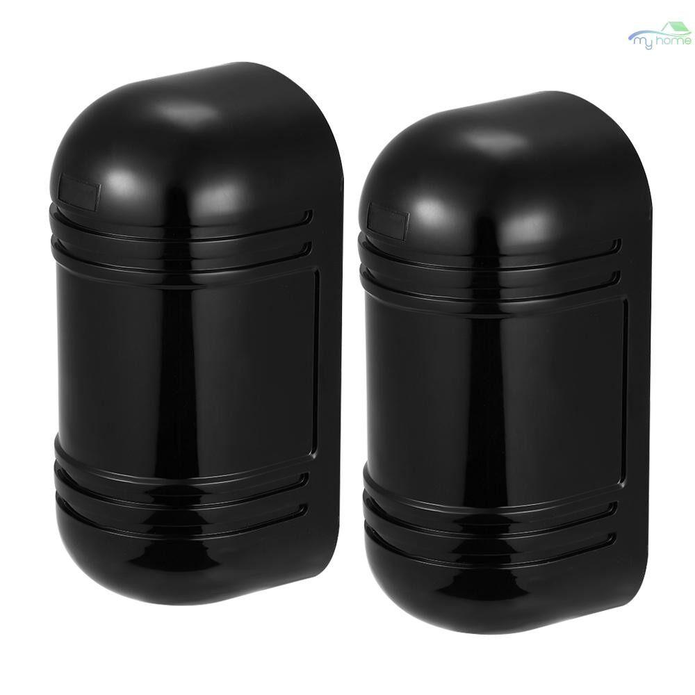 Sensors & Alarms - Wired Dual Beam Photoelectric Infrared Sensor Barrier Detector 100M Alarm Tamper Alarm Output for - BLACK
