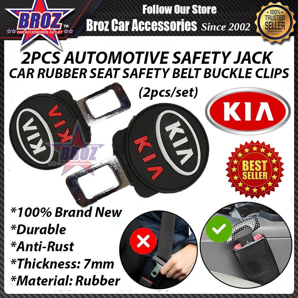 ABS Rubber Car Seat Belt Buckle Clip - 2pcs