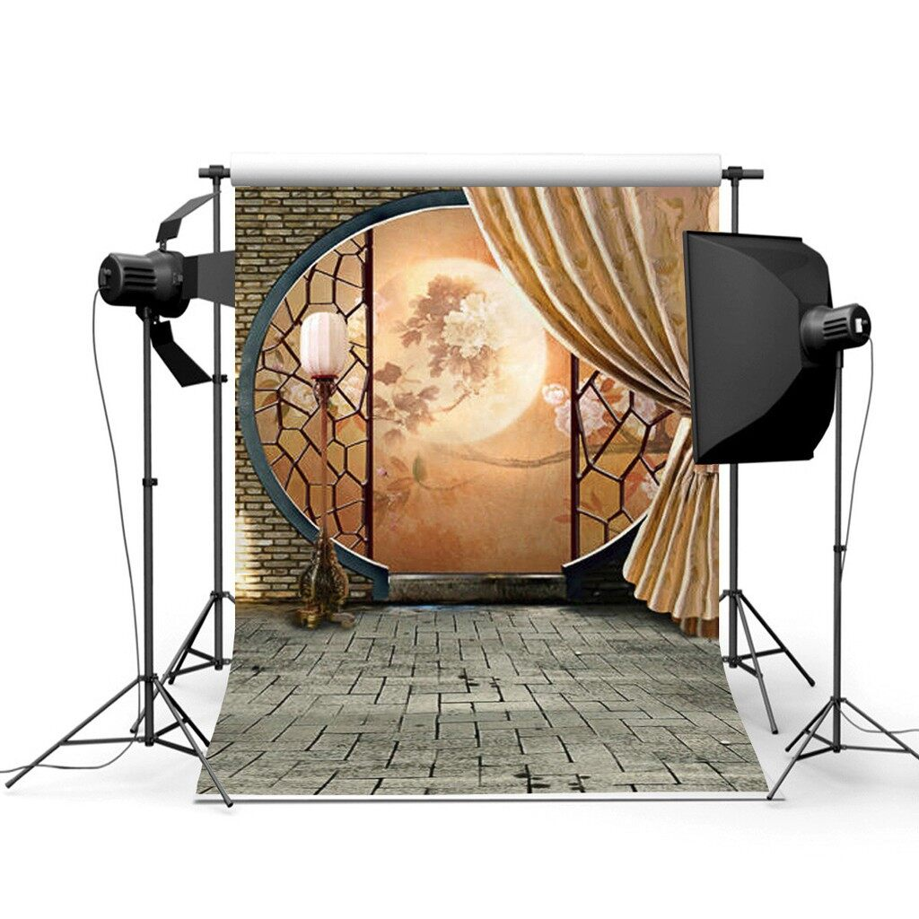 Lighting and Studio Equipment - 3x5ft Chinese Antiquity Moon Mid-autumn Festival Photography Background BackDB - Camera Accessories