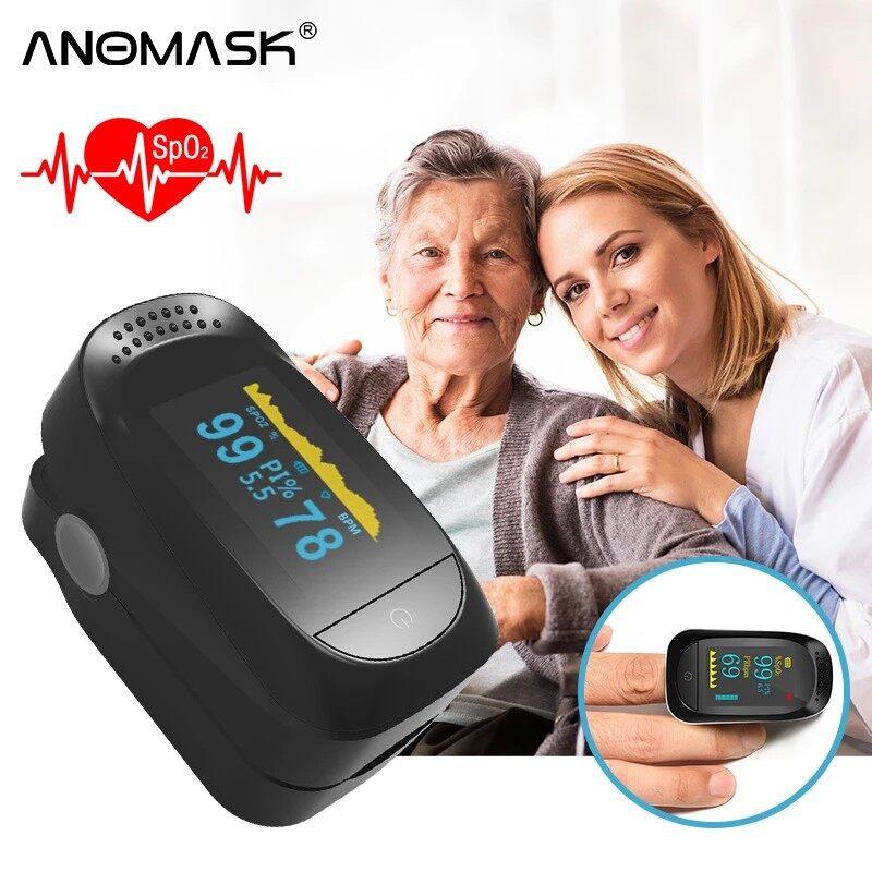 Portable Finger Pulse Oximeter Fingertip Pulsoximeter Blood Oxygen Saturation Monitor Fingertip Rate