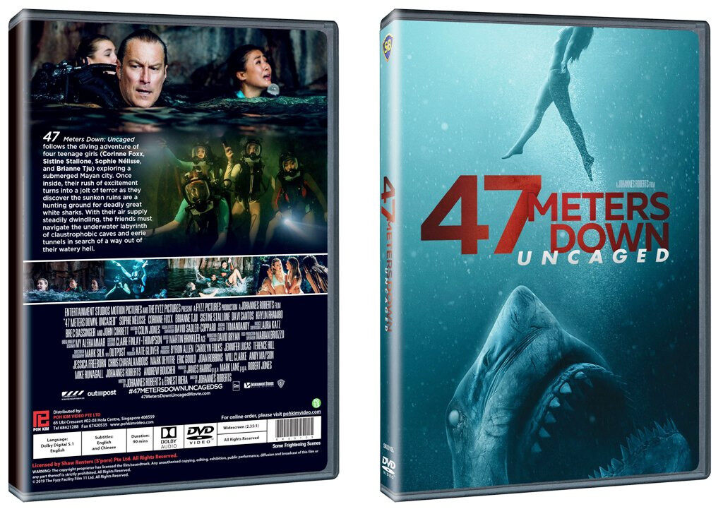 English Movie 47 Meters Down: Uncaged DVD