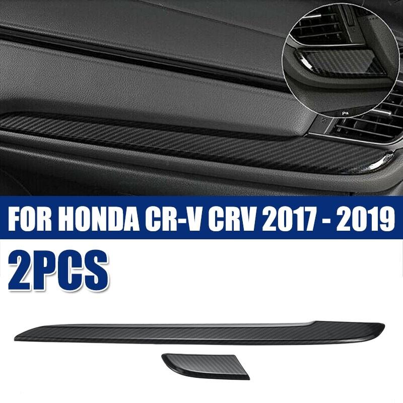Automotive Tools & Equipment - FOR HONDA CR-V CRV 2017- 2 PIECE(s) Car ABS Dashboard Console Frame Cover Trim - Car Replacement Parts