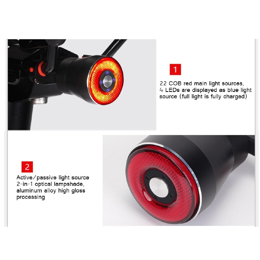 Acrobatic Sports - Rechargeable Bicycle Bike Smart Brake Light Sense LED USB Tail Rear Lamp IP65 - MODE1 / MODE3 / MODE2